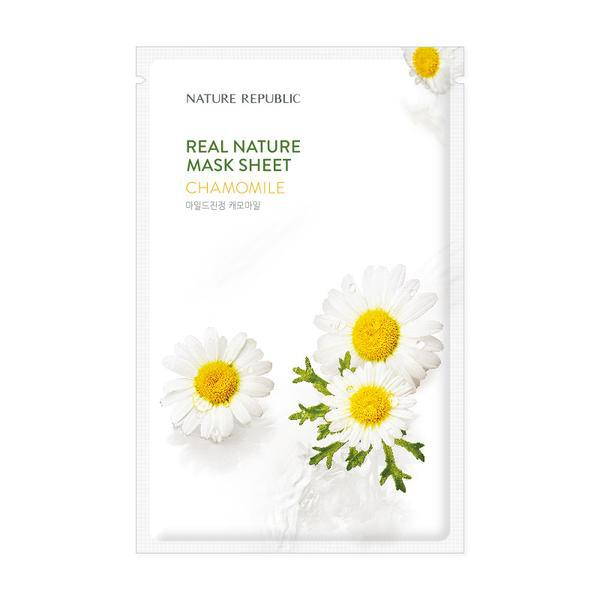 NATURE REPUBLIC Real Nature Arcmaszk - Kamilla (Nyugtató) 23ml