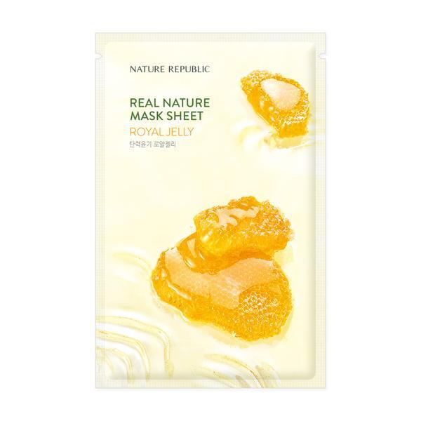 NATURE REPUBLIC Real Nature Arcmaszk - Méhpempő (Tápláló) 23ml
