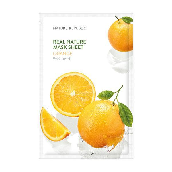 NATURE REPUBLIC Real Nature Arcmaszk - Narancs (Világosító) 23ml