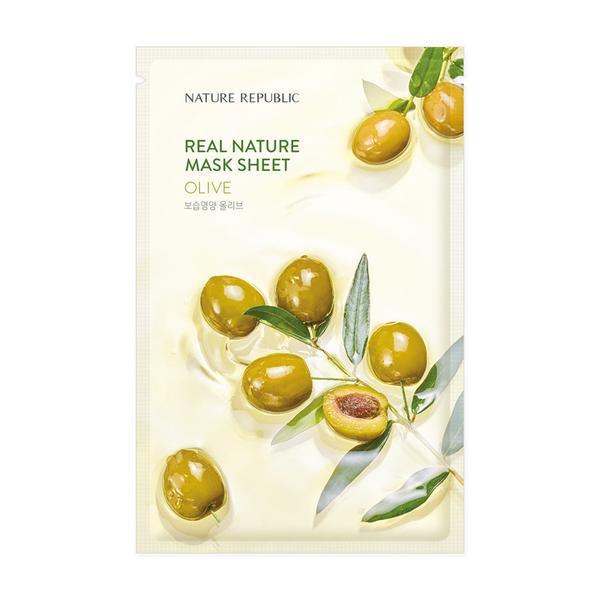 NATURE REPUBLIC Real Nature Arcmaszk - Olíva (Tápláló) 23ml