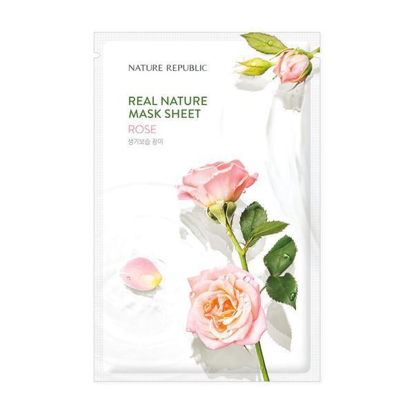 NATURE REPUBLIC Real Nature Arcmaszk - Rózsa (Revitalizáló) 23ml