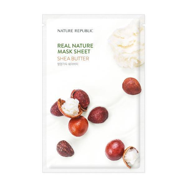 NATURE REPUBLIC Real Nature Arcmaszk - Shea Vaj (Tápláló) 23ml