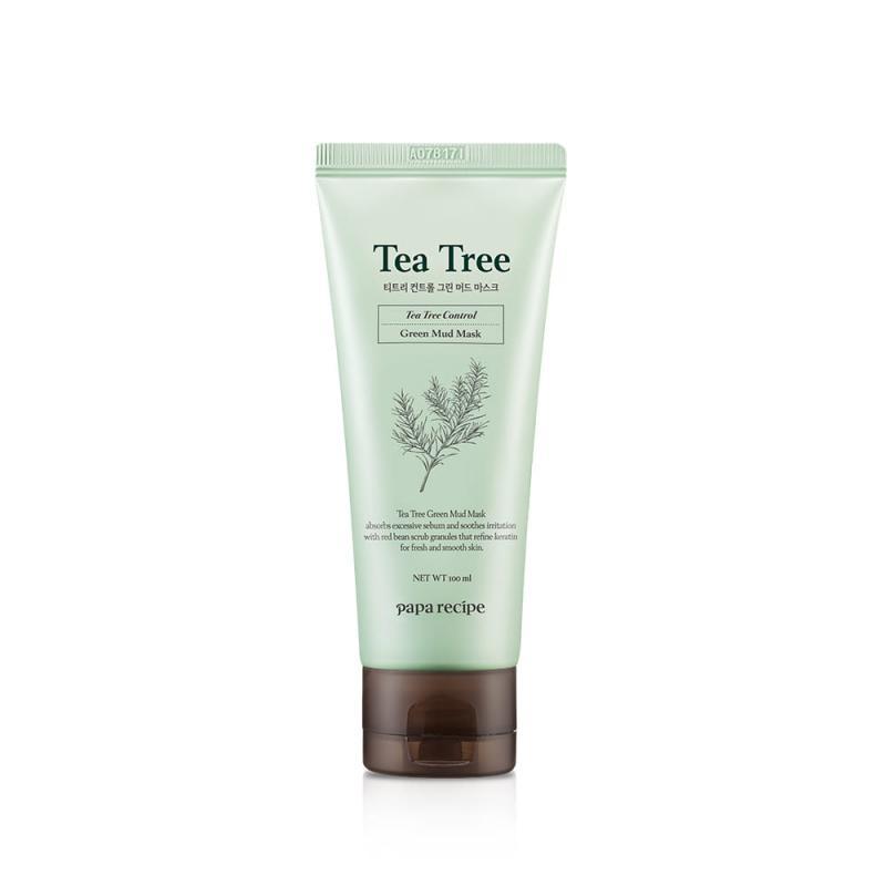 PAPA RECIPE Tea Tree Control Zöld Agyag Arcpakolás 100ml