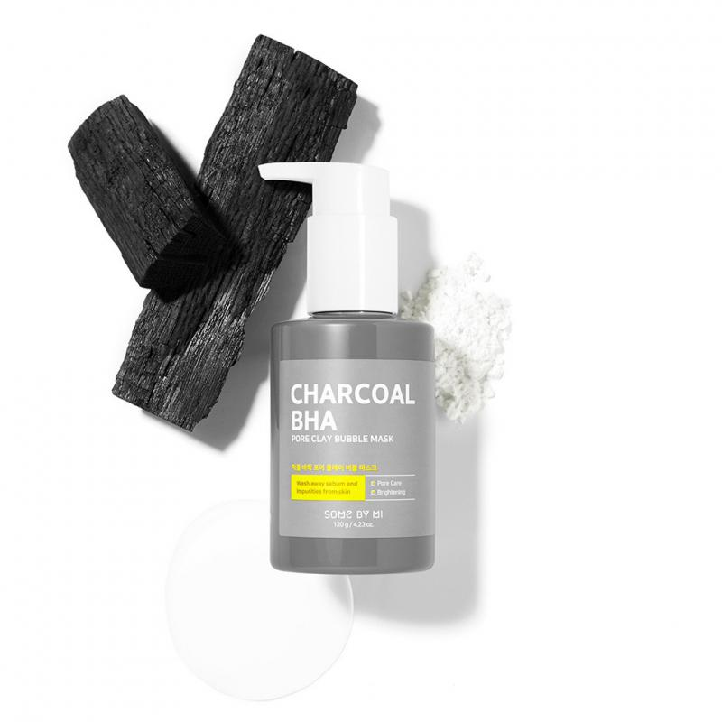 SOME BY MI Charcoal BHA Pore Clay Bubble Arcmaszk 120g