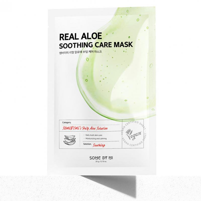 SOME BY MI Real Aloe Soothing Care Arcmaszk 20g