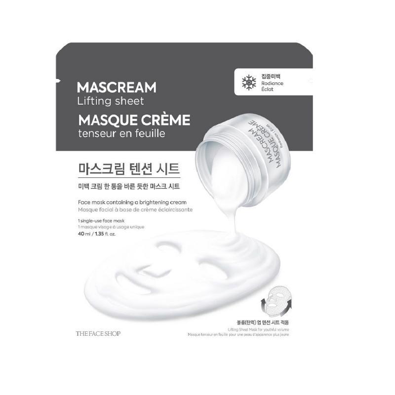 THE FACE SHOP MasCream Lifting Arcmaszk - Radiance (világosító) 40ml