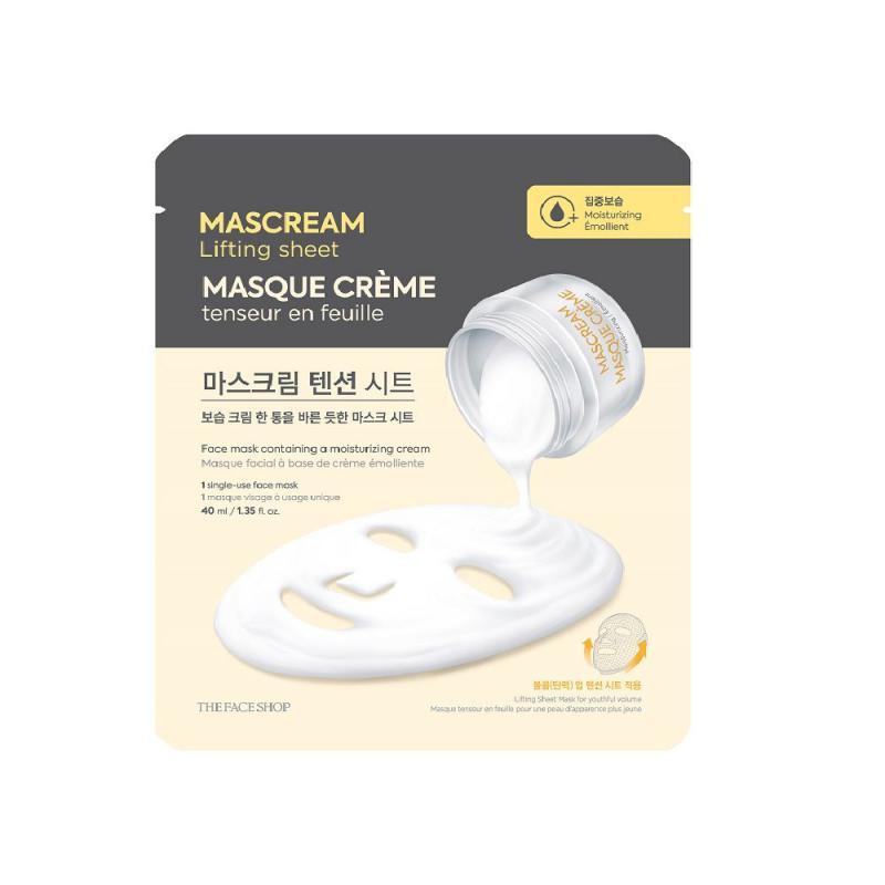 THE FACE SHOP MasCream Lifting Arcmaszk - Tápláló (száraz bőrre) 40ml