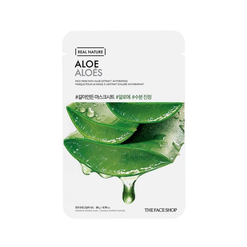 THE FACE SHOP Real Nature Arcmaszk - Aloe (hidratáló) 20g