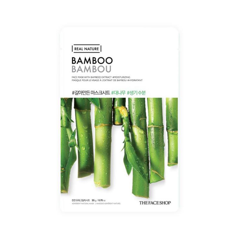 THE FACE SHOP Real Nature Arcmaszk - Bambusz (hidratáló) 20g