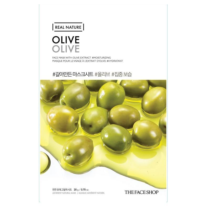 THE FACE SHOP Real Nature Arcmaszk - Olíva (tápláló) 20g