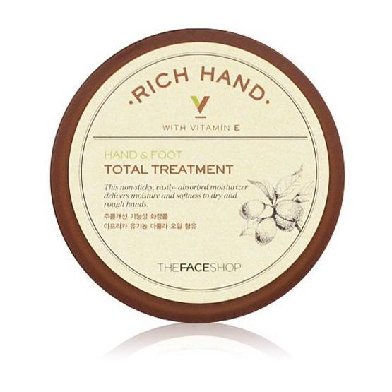 THE FACE SHOP Rich Hand V Hand & Foot Total Treatment Krém 110ml