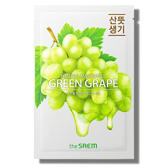 THE SAEM Natural Skin Fit Arcmaszk - Green Grape 21ml