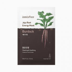 INNISFREE Jeju Root Energy Arcmaszk - Bojtorján (Tisztító és Nyugtató) 25ml