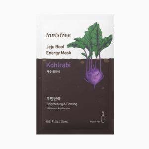 INNISFREE Jeju Root Energy Arcmaszk - Karalábé (Világosító és Feszesítő) 25ml