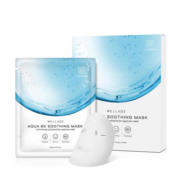 WELLAGE Aqua B5 Soothing Arcmaszk  (hidratáló és nyugtató) 23ml