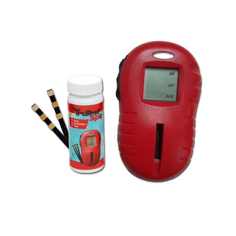 AquaChek TruTest Spa digitális tesztcsíkolvasó Összesen bróm, klór és pH összes lúgosság tesztelése