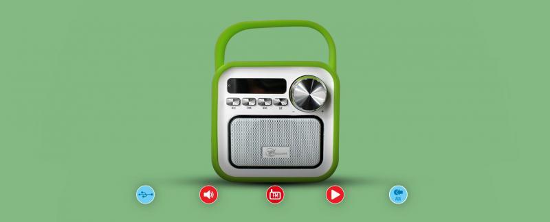 Falcon Beach Bluetooth Speaker kisrádió