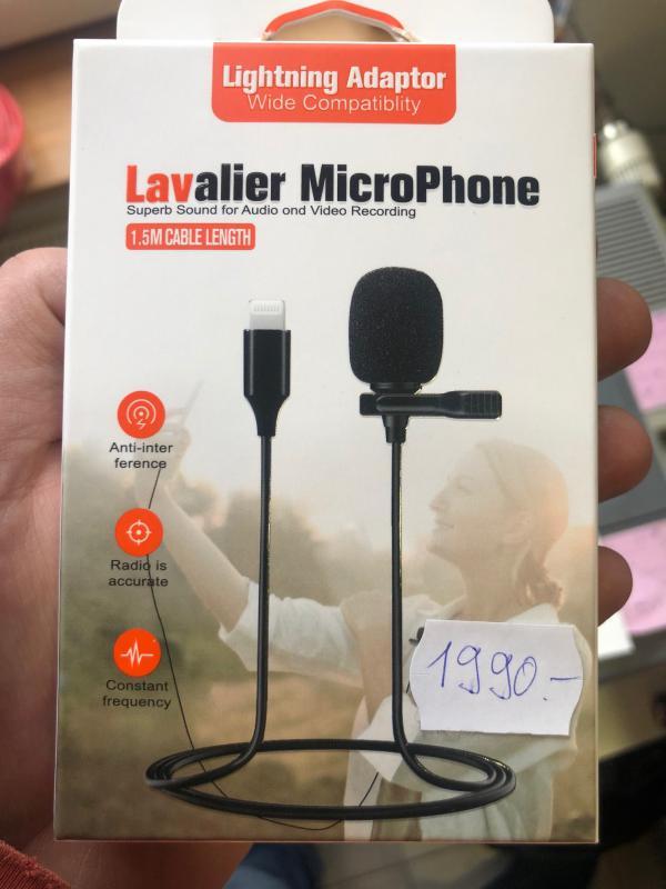 Lavalier MicroPhone Iphone lightning csatival mikrofon telefonhoz