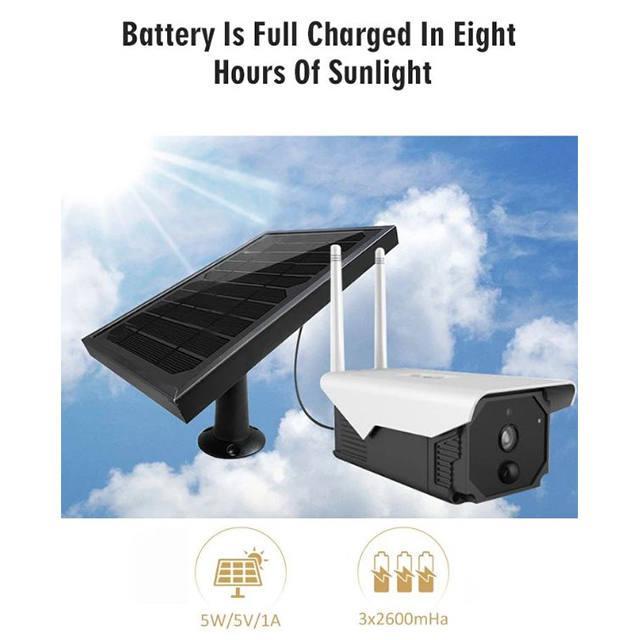 Solar wifi kamera, napelemes kultéri akkus mozgásérzékelős