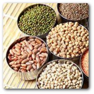 Tönkölyliszt, gabona, hüvelyesek