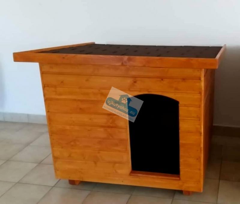 100X110 hőszigetelt kutyaház lapos tetős csersznye