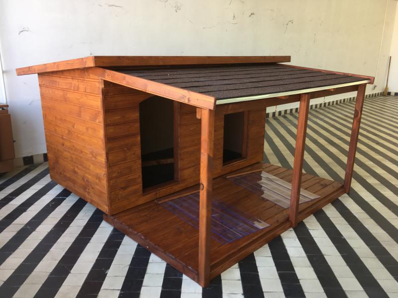 180X100 hőszigetelt dupla lapos tetős teraszos teak