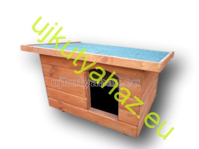60x80 kutyaház lapos tetős, cseresznye