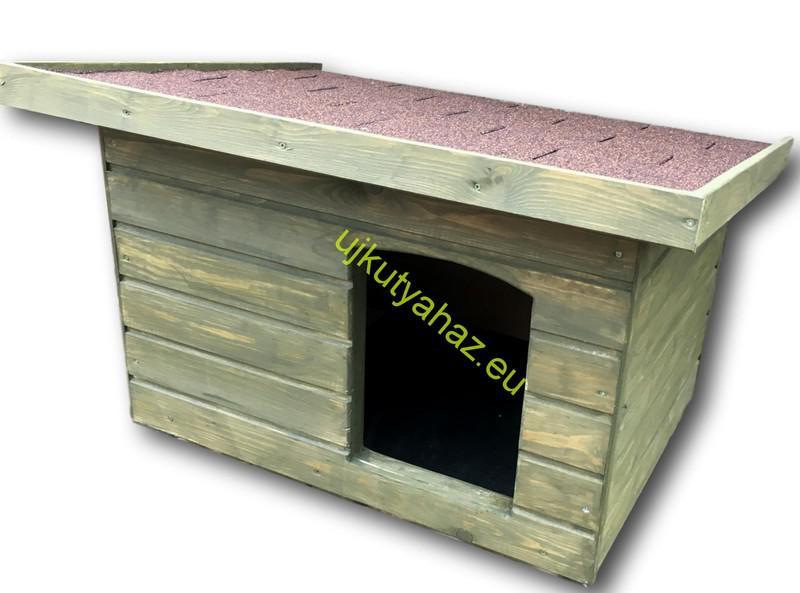 60x80 kutyaház lapos tetős, moha