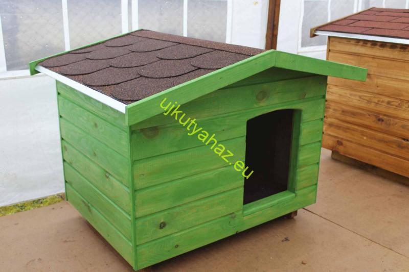 70X90 kutyaház fordított amerikai tetős zöld