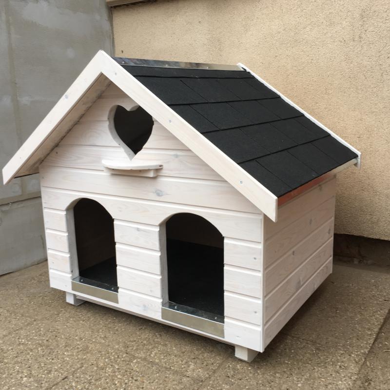 75X100 hőszigetelt dupla kutyaház + cicalak fehér másolata