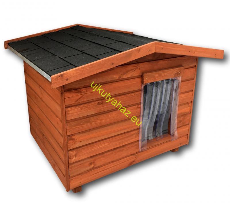 80X100 hőszigetelt kutyaház fordított amerikai tetős dió