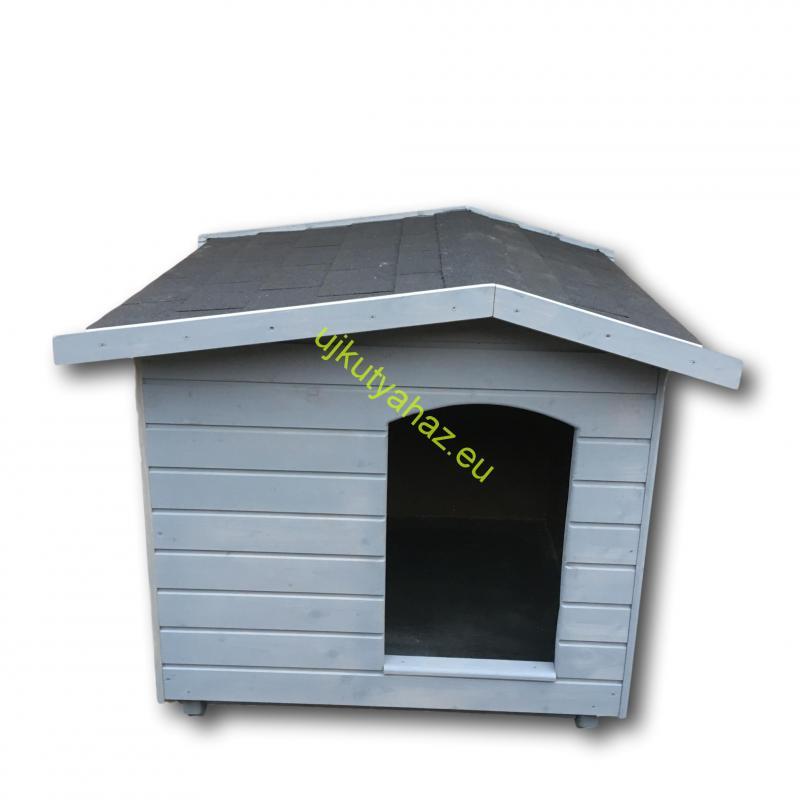 80X100 hőszigetelt kutyaház fordított amerikai tetős szürke
