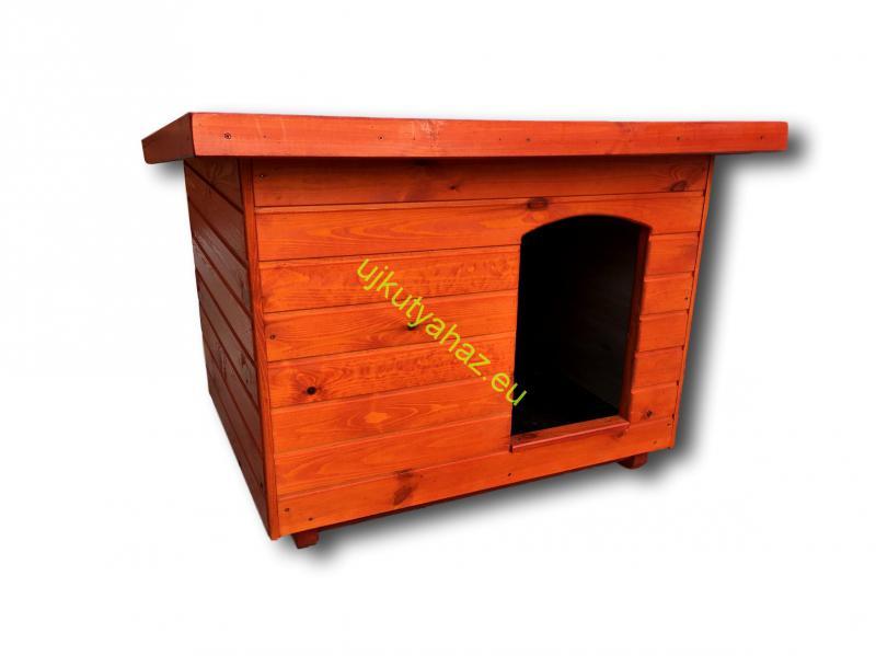 80X100 hőszigetelt kutyaház lapos tetős