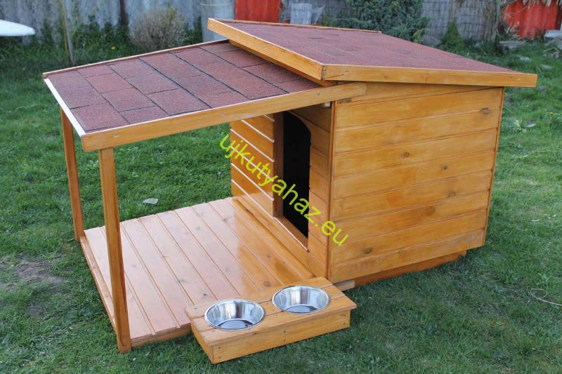 80X100 hőszigetelt kutyaház teraszos