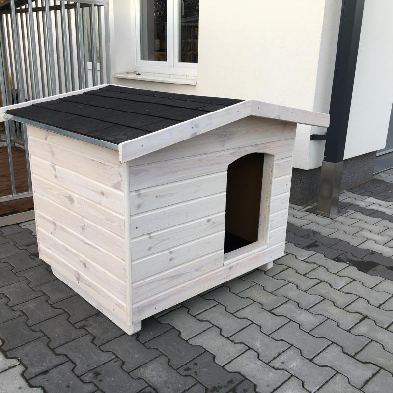 90X100 EXTRA hőszigetelt kutyaház amerikai tetős fehér