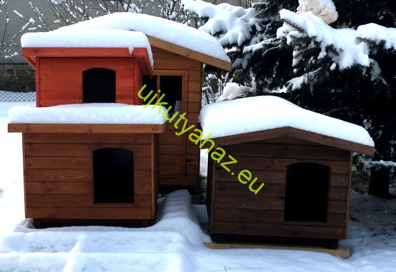 Extra hőszigetelés nagy kutyaházba, falvastagság 8cm