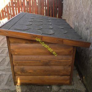 70X100 hőszigetelt kutyaház lapos tetős rönkhatású