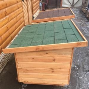 70x90 lapos tető, zöld zsindely