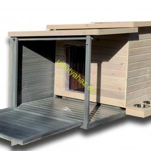 Fűthető 100X110 hőszigetelt falvastagság 8cm lenyitható teraszos szürkefehér