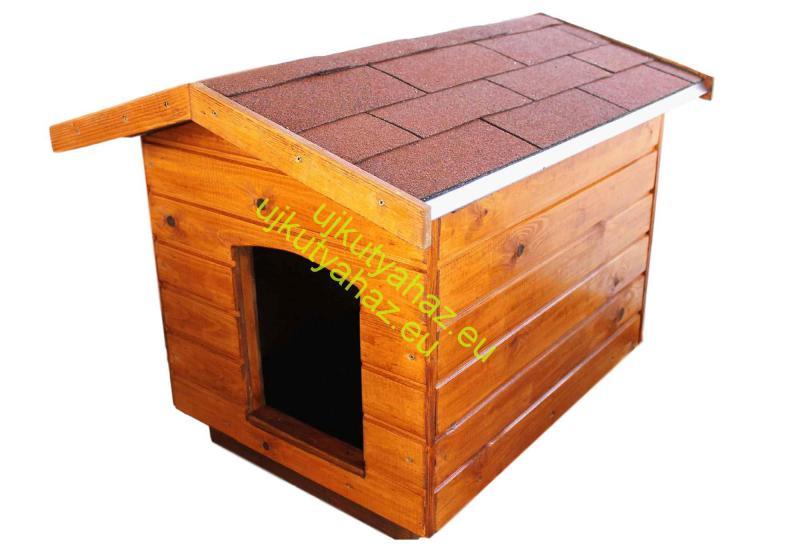 Fűthető 60X80 kutyaház amerikai tetős