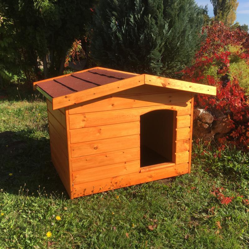 Fűthető 70X90 hőszigetelt kutyaház fordított amerikai tetős