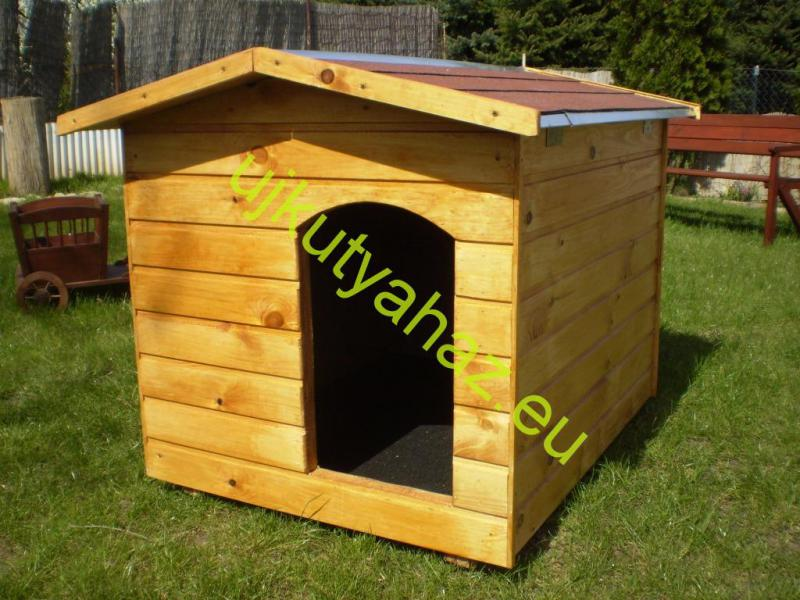 Fűthető 80X100 hőszigetelt kutyaház amerikai tetős