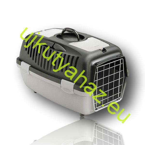 Gulliver 2 szállítóbox fém ajtós -szürke 55x36x35cm