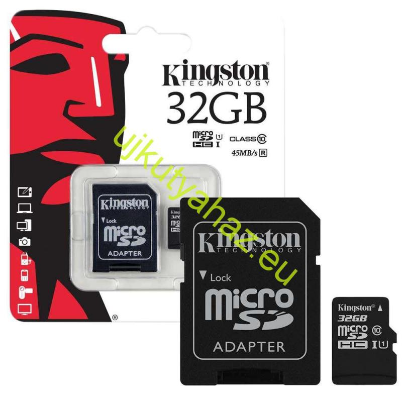 Kingstone 32GB Class10 MicroSD memóriakártya