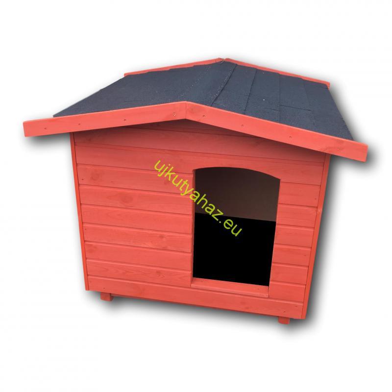 Okos fűthető 90X100 hőszigetelt kutyaház fordított amerikai tetős mahagóni