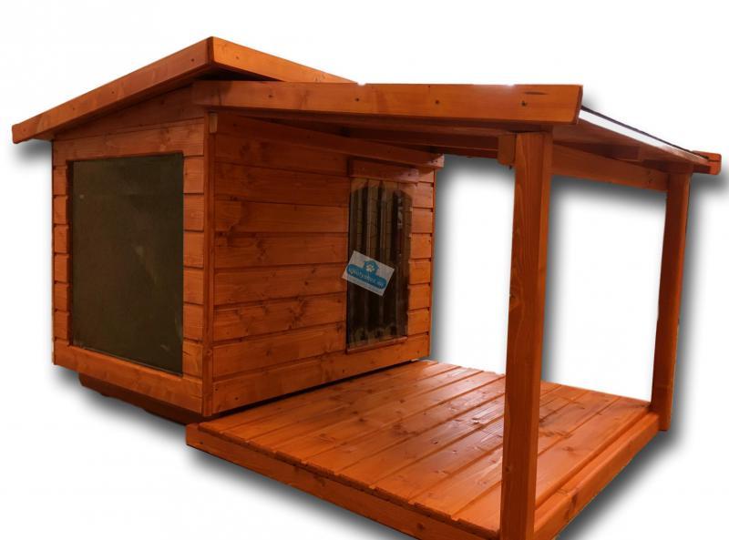 Panoráma 80X100 hőszigetelt kutyaház teraszos