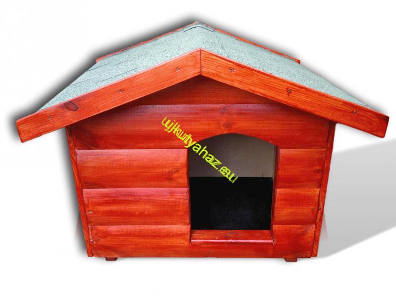 Rönkhatású 60X80 kutyaház sátor tetős mahagóni