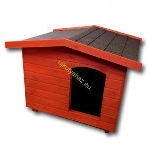 70X80 kutyaház fordított amerikai tetős mahagóni