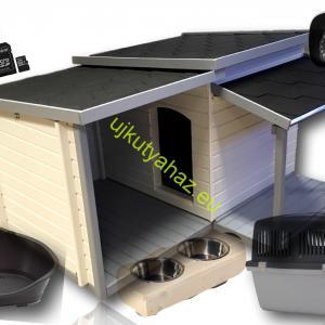 Dobermann extra luxus szett 7+3 db-os, okos fűthető teraszos kutyaházzal