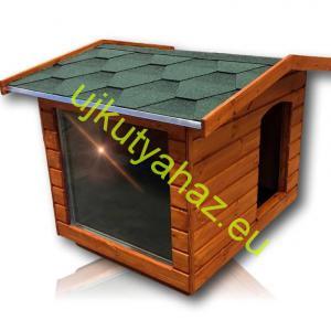 Panoráma 80X100 hőszigetelt kutyaház fordított amerikai tetős teak